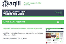 AQIII launches new Website
